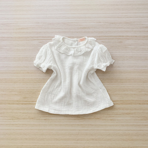 Ruffle Neck Rompers / Top - Off White