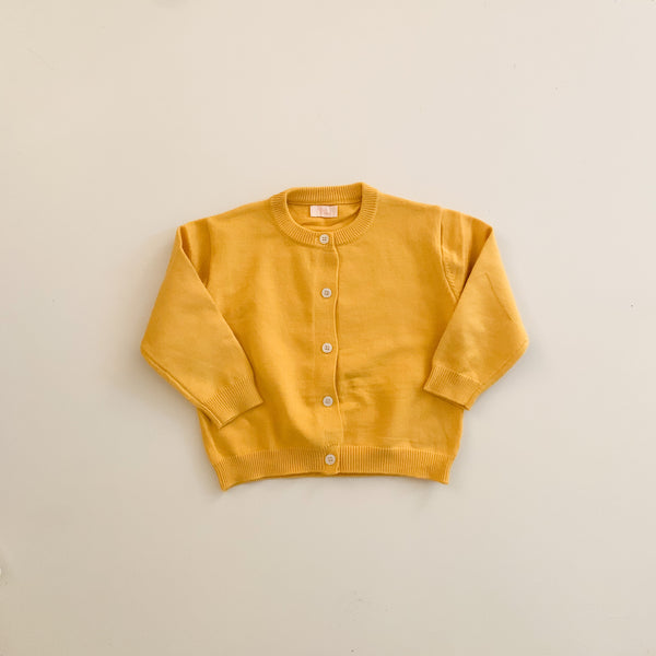 Simple Cardi - Yellow