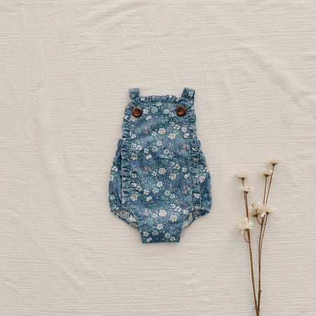 Retro Romper - Light Blue