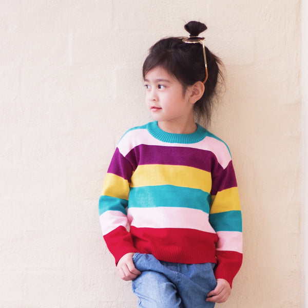 Knitted Jumper - Rainbow