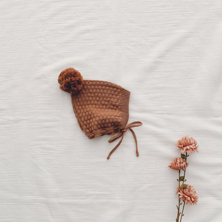 Knitted Bonnet - Rosie Cream