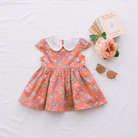 Frilly Top Dress - Rusty Rose