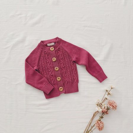 Button Cardi - Dusty Pink
