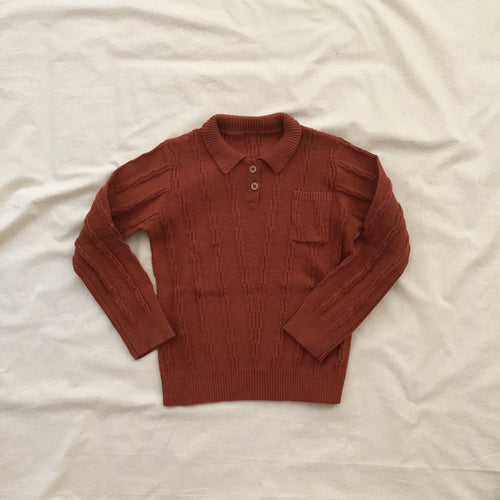 Knitted Jumper - Rusty Brown