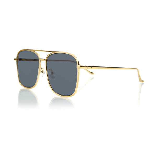 GENEVA LARGE (Gold Metal, Grey Lens)