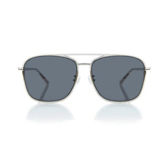 GENEVA LARGE (Silver Metal, Grey Lens)