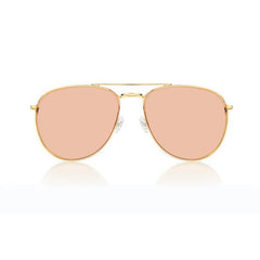 MIAMI LARGE (Gold Metal, Pink Mirror Lens)
