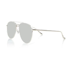 MIAMI LARGE (Silver Metal, Silver Mirror Lens)