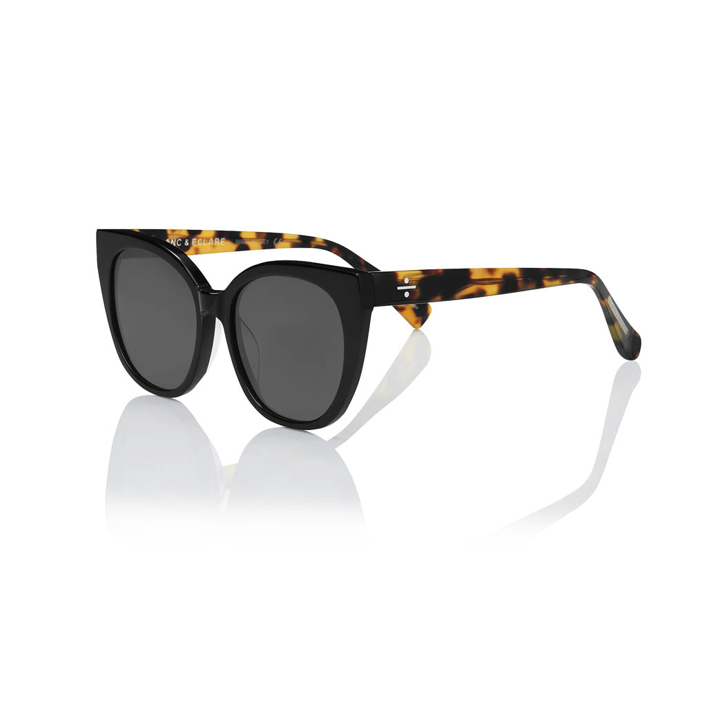 MONACO (Black & Lemon Tortoise with Smog Grey Lens)