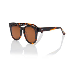 NICE (Honey Tortoise with Solid Brown Lens)