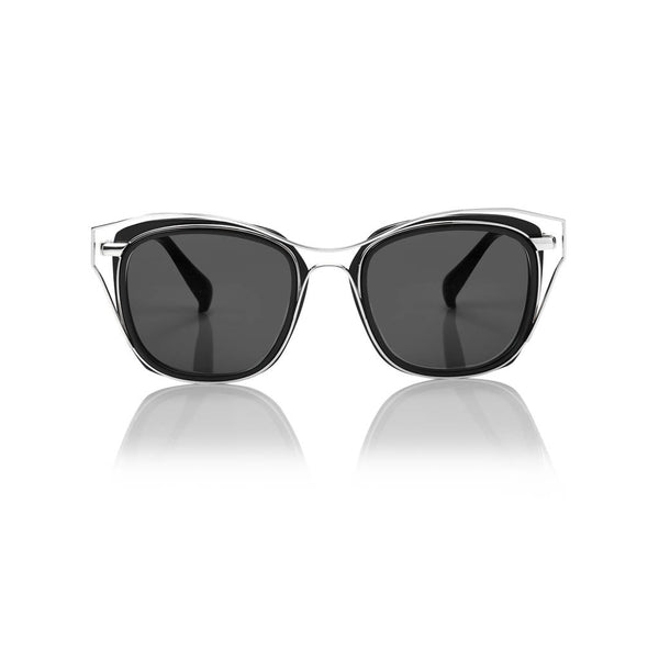 DUBAI (Black and Silver Metal with Smog Grey Lens)