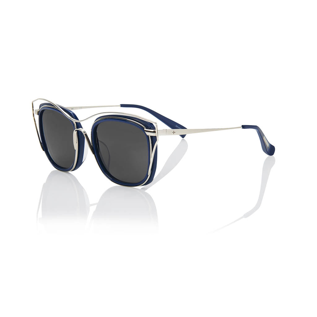 DUBAI (Deep Ocean and Silver Metal with Smog Grey Lens)