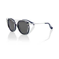 SINGAPORE (Deep Ocean and Silver Metal with Smog Grey Lens)