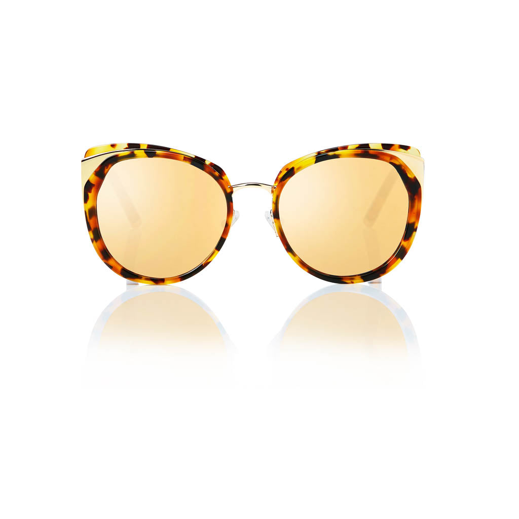 ISTANBUL (Honey Tortoise and Gold Metal with Gold Mirror Lens)