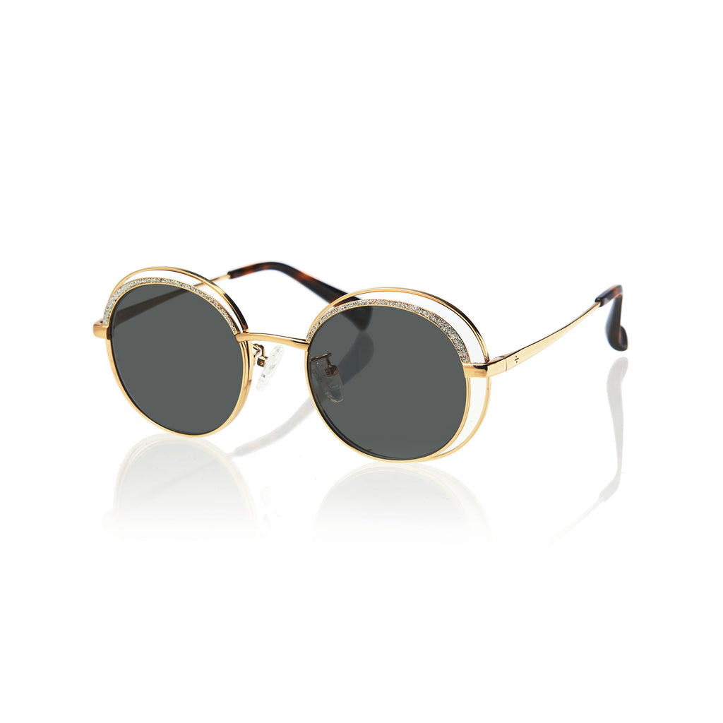 HAVANA (Gold Metal with Green Lens)