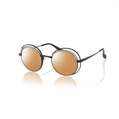 HAVANA (Matte Black Metal with Gold Mirror Lens)