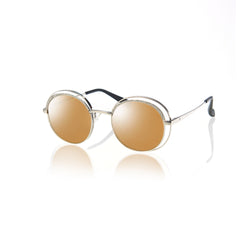 HAVANA (Silver Metal with Gold Mirror Lens)