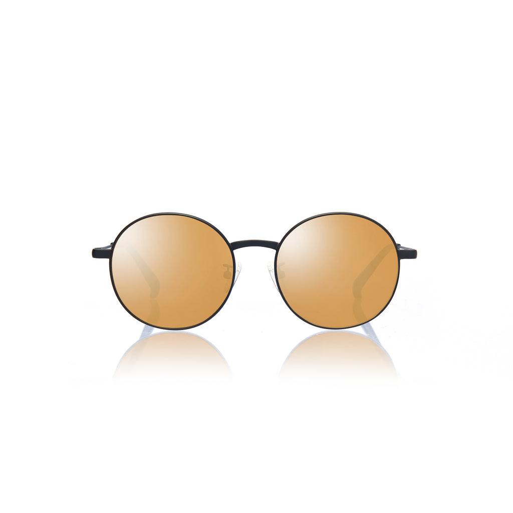 BARCELONA (Matte Black Metal with  Gold Mirror Lens)