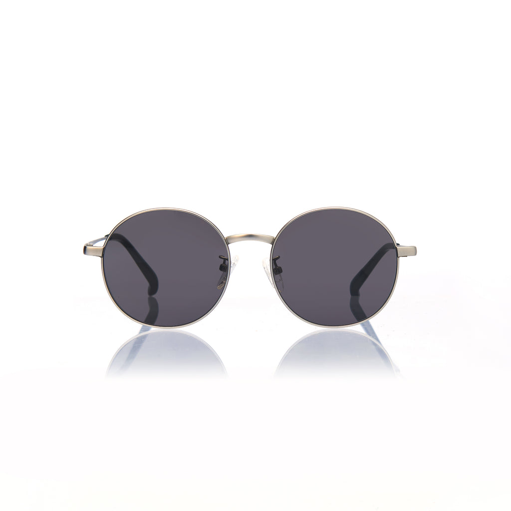 BARCELONA (Matte Silver Metal with Smog Grey Lens)