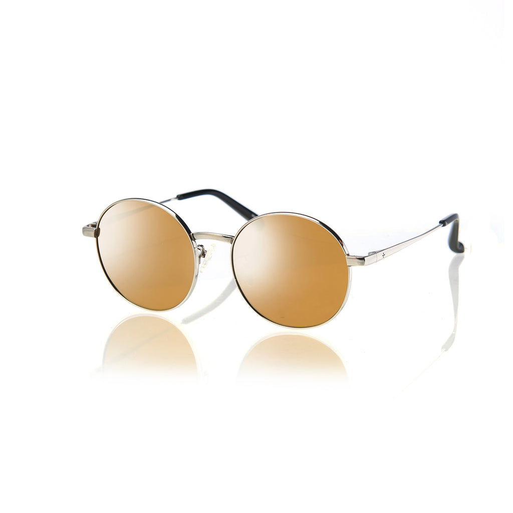 BARCELONA (Silver Metal with Gold Mirror Lens)