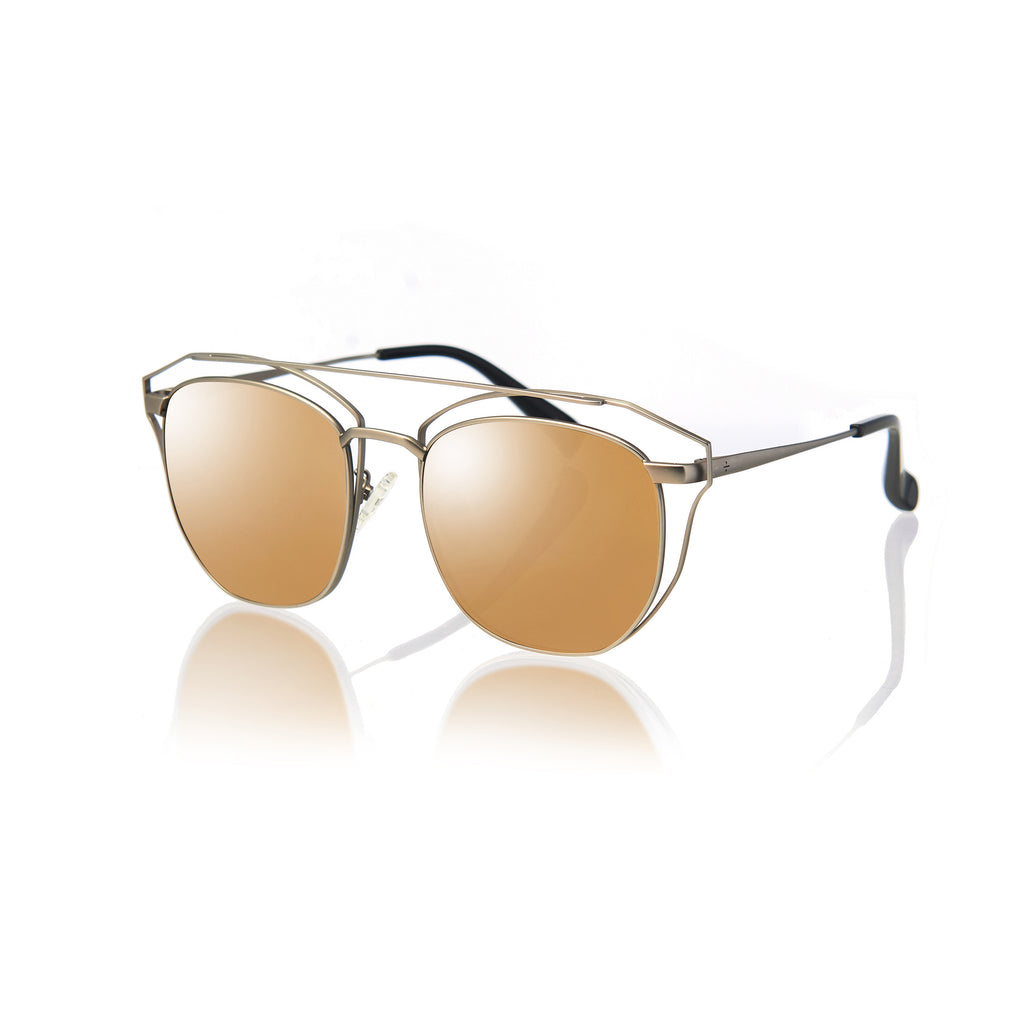 SYDNEY (Matte Grey Metal with Gold Mirror Lens)