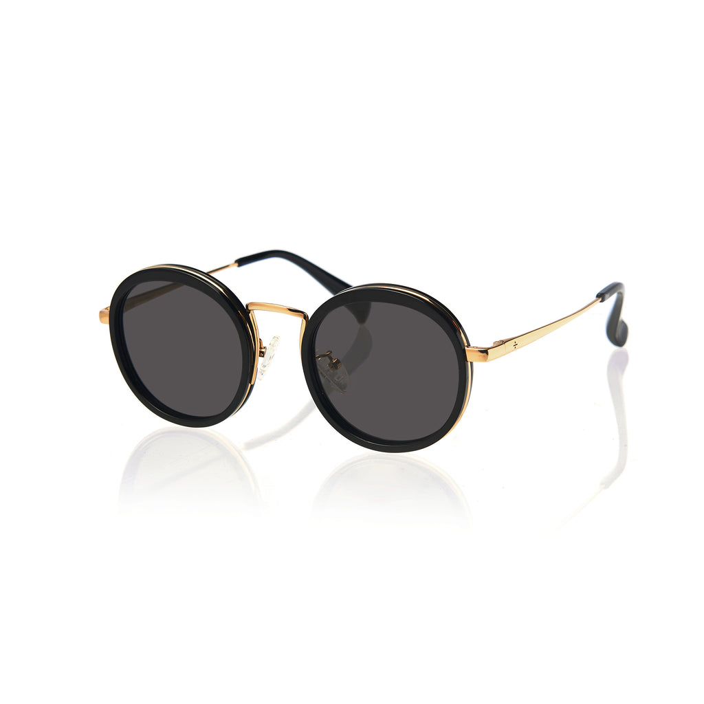 KYOTO (Black and Gold Metal  with Smog Grey Lens)