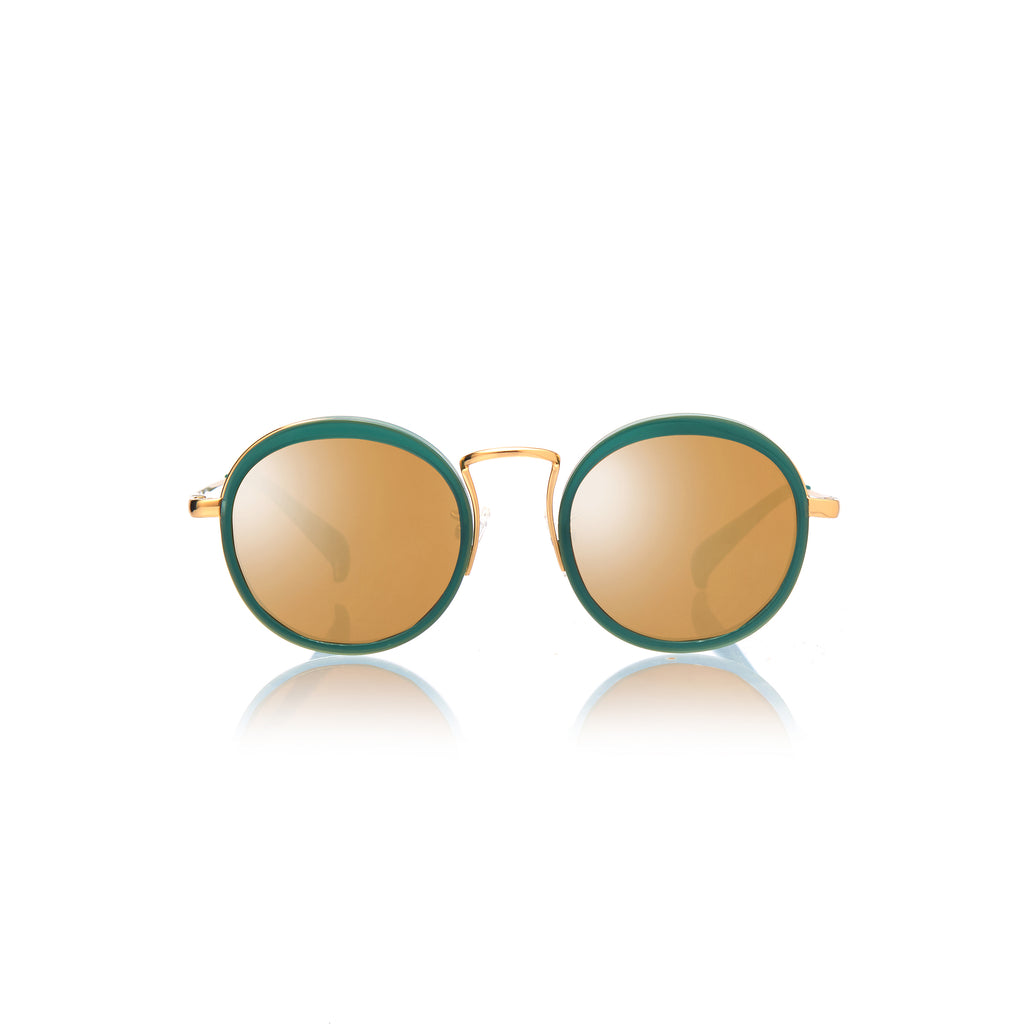 KYOTO (Jade and Gold Metal  with Gold Mirror Lens)