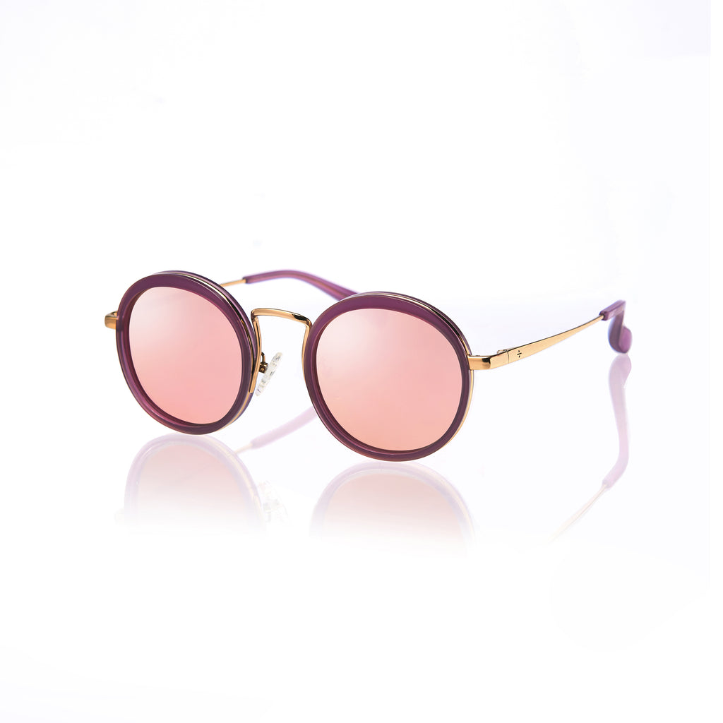KYOTO (Violet and Gold Metal  with Pink Mirror Lens)