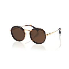 KYOTO (Honey Tortoise and Gold Metal  with Solid Brown Lens)