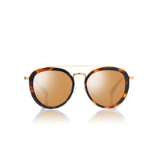 SAO PAULO (Honey Tortoise and Gold Metal  with Gold Mirror Lens)