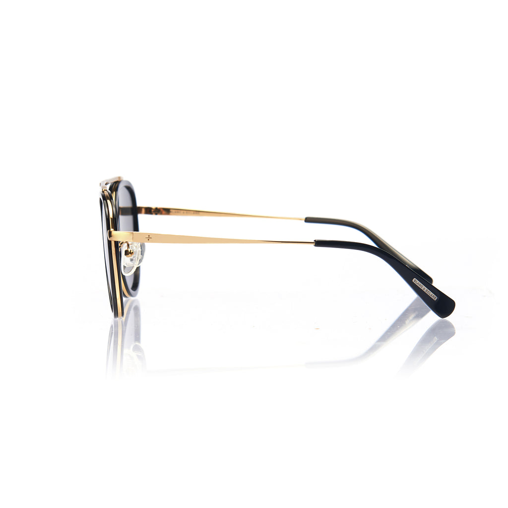 STOCKHOLM (Black and Gold Metal with Green Lens)