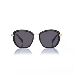 PRAGUE (Black and Gold Metal with Smog Grey Lens)