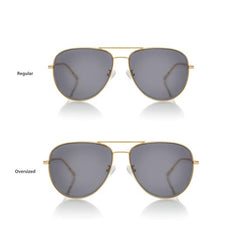 VEGAS LARGE (Gold Metal, Grey Lens)