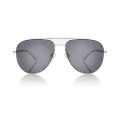 VEGAS LARGE (Silver Metal, Grey Lens)