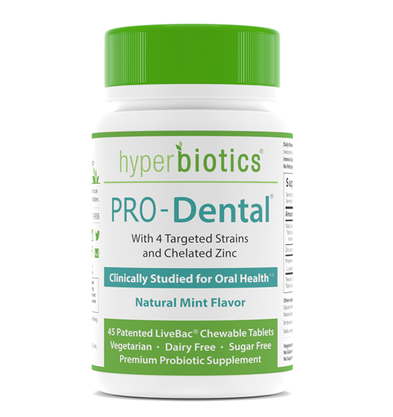 PRO-Dental: Chewable Mint Tablet with Targeted Strains for Oral Health