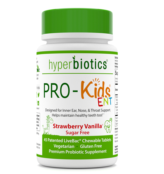 PRO-Kids ENT: Chewable Strawberry Tablet with Targeted Strains for ENT Health