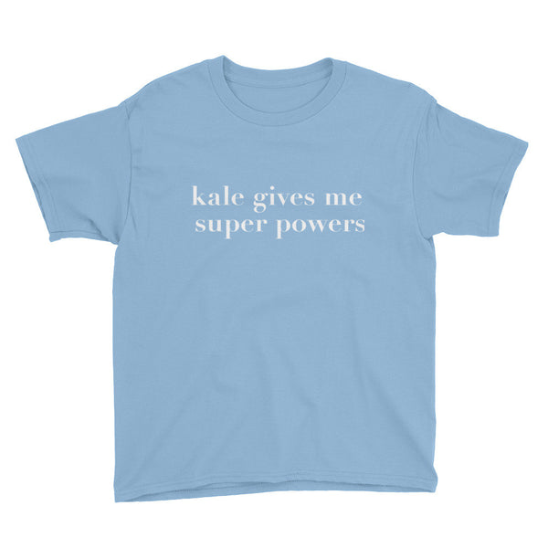 Kale Gives Me Super Powers - Kids Tee