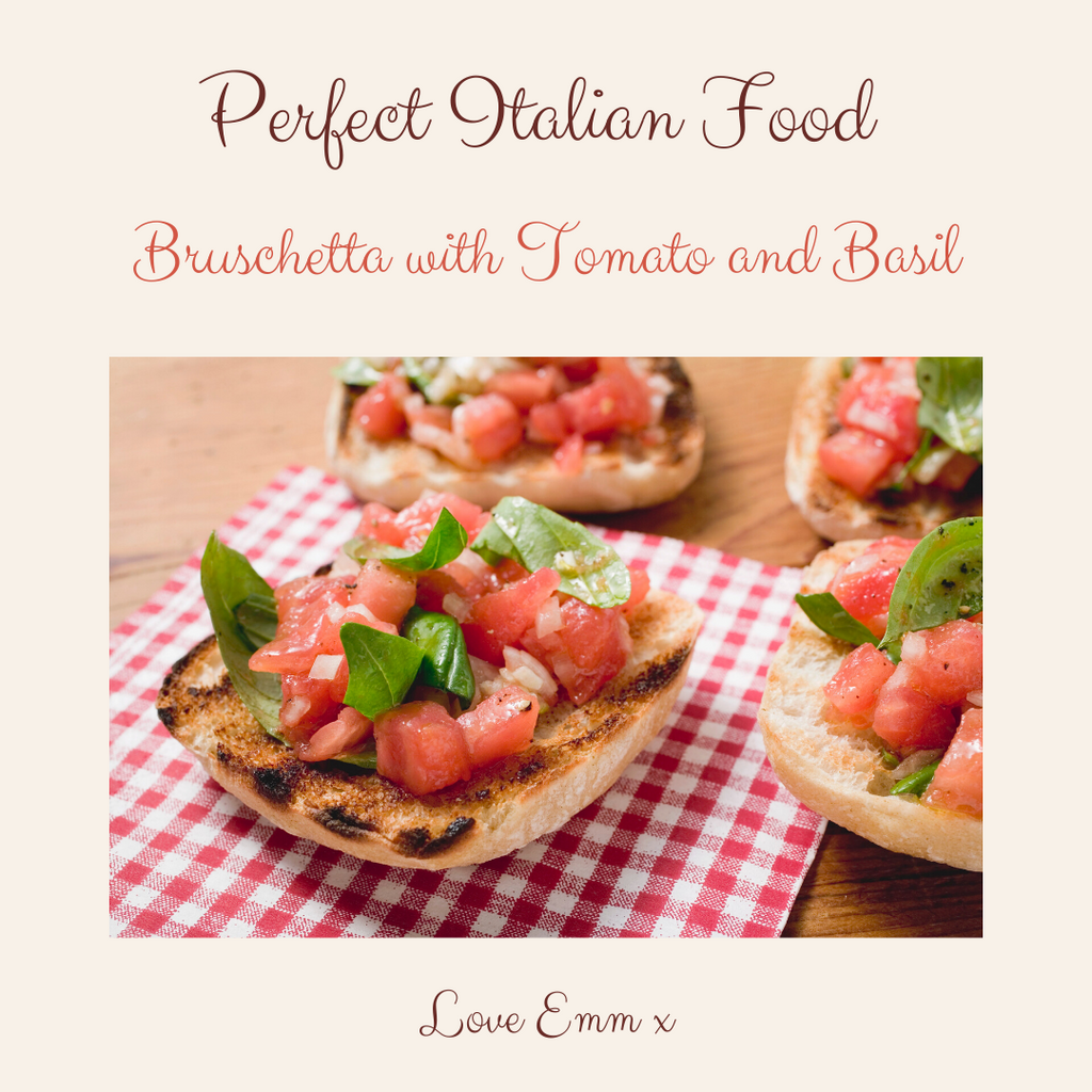 Italian Recipe - Bruschetta with Tomato and Basil