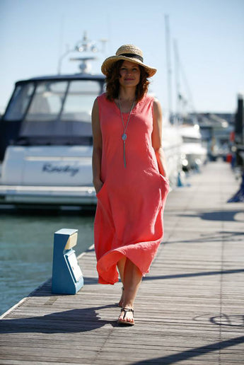 LINEN HOLIDAY DRESS