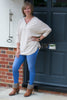 V NECK SILVER ZIP FRONT JUMPER IN 9 FABULOUS COLOURS