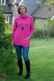POLO NECK JUMPER WITH 2 FRONT POCKETS