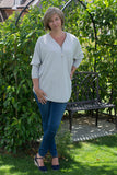 V NECK SILVER ZIP FRONT JUMPER IN 6 FABULOUS SPRING COLOURS