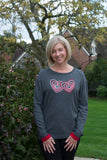DOUBLE HEART JUMPER
