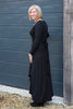 LONG SLEEVED BLACK WRAP DRESS