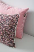 LIBERTY FLOWER CUSHION by Tikau Merikatu (35x50 cm, violet with multicolour flowers)