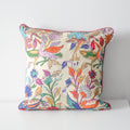 BIRDS EMBROIDERED CUSHION COVER (Lilac) By Tikau
