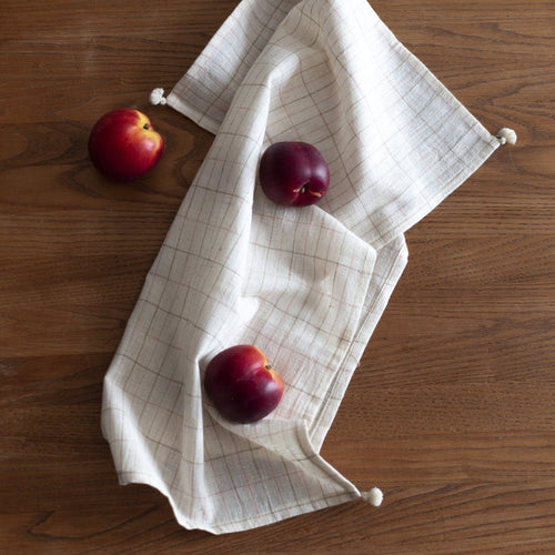 KITCHEN TOWEL ORGANIC COTTON CHECK by Tikau (60 x 50 cm)