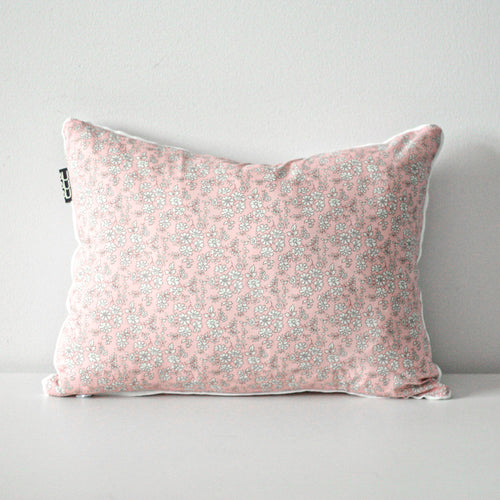 LIBERTY FLOWER CUSHION by Tikau Merikatu (35x50 cm, soft pink)