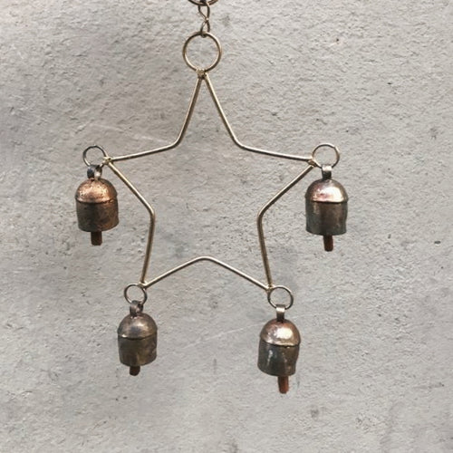 CHRISTMAS STAR BELL by Tikau (Brass)