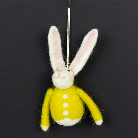 BUNNY WITH COAT PENDANT by Afroart